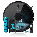 Cecotec Robot aspirador y fregasuelos Conga 6090 Ultra, Láser, Tecnología ciclónica, Aspira, Friega, Barre y Pasa la mopa, RoomPlan, Sensor óptico, APP, 10000 Pa, 10 Modos limpieza, Asistente Virtual