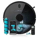 Cecotec Robot aspirador y fregasuelos Conga 5490, Tecnología láser, Friega, Aspira y Barre a la vez, 10.000 Pa, Cepillo Jalisco, Room Plan, App, Cepillo Mascotas, Compatible 5 GHz, Mando a Distancia