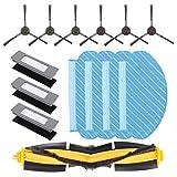 DingGreat Piezas de Repuesto para Ecovacs DEEBOT OZMO 920/ ECOVACS DEEBOT OZMO 950 Aspiradora Robótica con 1 Cepillo Principal, 3 Filtro, 4 Toallitas de Microfibra, 6 cepillos Laterales
