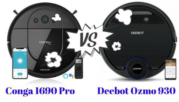 conga 1690 vs Deebot Ozmo 930