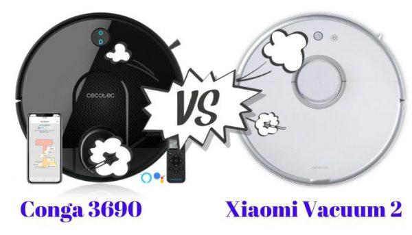 conga 3690 vs Xiaomi Vacuum 2