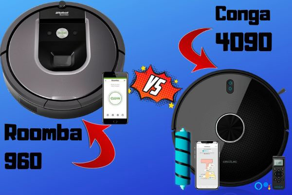 conga 4090 vs roomba 960