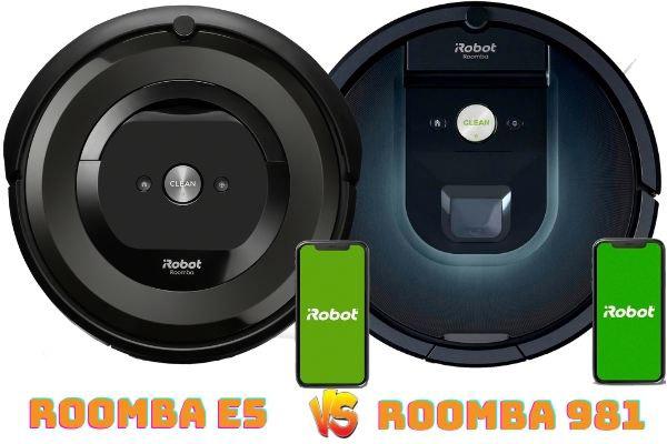 roomba e5 vs roomba 981